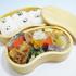 自然素材の  豆型木製お弁当箱