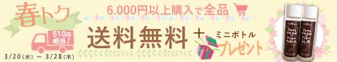 6千円以上送料無料ミニボトルプレゼント