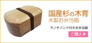 国産杉の木育木製お弁当箱