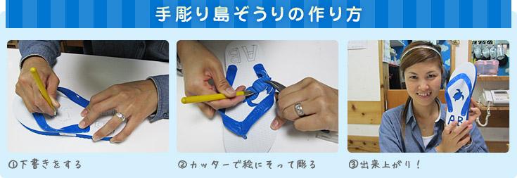手彫り島ぞうり(ビーチサンダル)の作り方